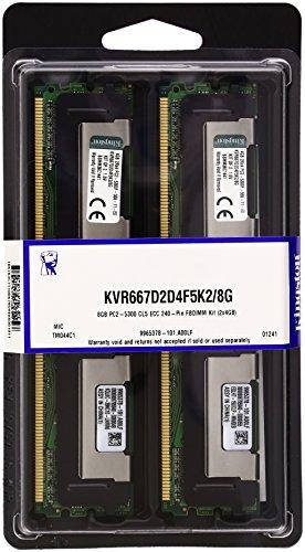 Ecc Cl5 Kit (Kingston KVR667D2D4F5K2/8G Arbeitsspeicher 8GB (DDR2 ECC Fully Buffered CL5 DIMM Kit, 240-pin))