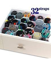 INOVERA (LABEL) Honeycomb Underwear Innerwear Socks Organizer Drawer Clapboard Closet Divider 8 Strap (Pink)