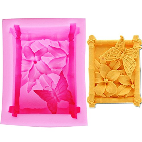 Surglam Soap Moulds Silicone Butterfly Shape Handmade DIY Soap Crafts Embed Silicone Mold Prime