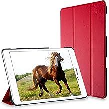 Galaxy Tab A 9.7 Funda, JETech Slim Fit Galaxy Tab A 9.7 Smart Case Funda Carcasa con Stand Función y Auto-Sueño/Estelar para Samsung Galaxy Tab A 9.7 pulgadas (Rojo) - 3222