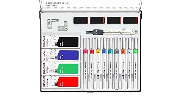 isomars technoart dessin technique stylo lot de 9 amazon fr