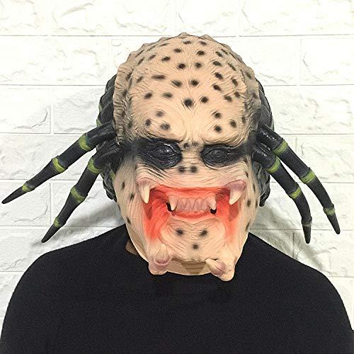 TGCYMYY Horrormaske Alien Horrormaske Headset Ghost Face Gruseliges Latex Halloween Bar Performance