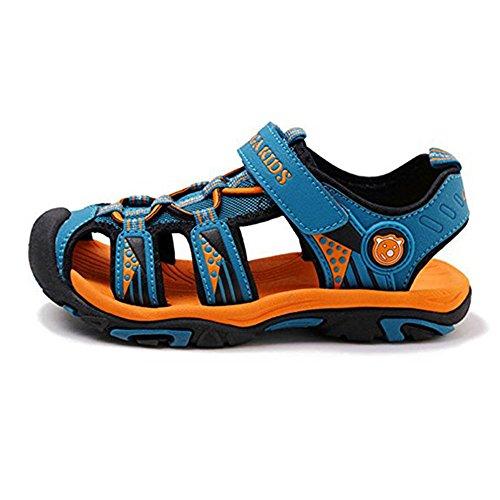 bd329d6149b93c SITAILE Kinder Schuhe Geschlossene Sandalen Outdoor Sportshuhe  Walkingschuhe Blau ...