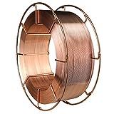 WELDINGTOOL Stahl Schweißdraht SG 3, Ø 1,0 mm, 16 kg mit TÜV und DB Zulassung (Ø 0,8 - 1,2 mm auswählbar)