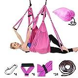 Fabriqué à partir de tissu de parachute qui riche en élasticité et flexibilité, lisse comme de la soie et forte en force. Yoga aérien est largement utilisé pour les utilisateurs débutants, intermédiaires, avancés, rose
