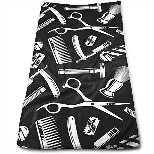 WTZYXS Vintage Barber Tools Pattern Microfiber Multi-Purpose Towel Bath Towels Hand Towels Washcloth Towels Bathroom Towels - Great Shower Towels, Hotel Towels & Gym Towels 12