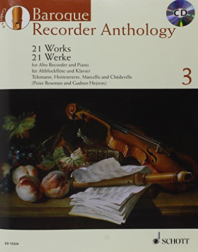 Baroque Recorder Anthology Volume 3 +CD (21 pièces) --- Flûte à bec Alto / Piano