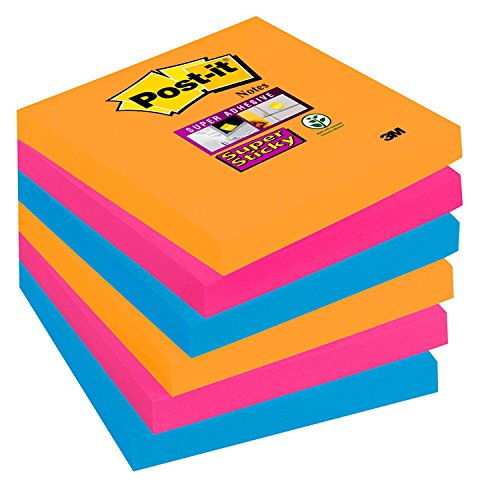 post-it-notes-super-sticky-76-x-76-mm-collection-bangkok-lot-de-6