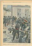 I disordini per la filossera a San Salvatore (Alessandria) . I carabinieri respingono i dimostranti davanti la casa del