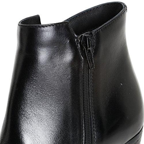 ALESYA by Scarpe&Scarpe - Bottines hautes avec bout pointu, en Cuir, à Talons 8 cm Noir