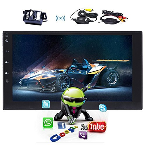 "tablet android 6.0 Universale nuovo 7"" Android 6.0 Car stereo auto video Player doppio 2 DIN per autoradio navigazione GPS Car tablet auto radio FM AM RDS Bluetooth SD Ingresso USB capacitivo multi touch screen"