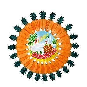 WIDMANN Pineapple Aloha Paper Fan Prop Party Fancy Dress 60cm for Fancy Dress Accessory