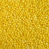 30g Edible Yellow 100s and 1000s Hundreds and Thousands Non Pareils 1.5mm Mini Sugar Balls Pearls Sprinkles Cup Fairy Birthday Cake Decorations Toppers Mothers Day Easter Chick Wedding BBC Children in Need Pudsey Bear Christening