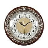 JYT-GZ Decoración del hogar Personalidad Creativa Reloj Dormitorio Creativo de la Sala de Estar del Reloj de Cobre Puro de Madera Maciza Accesorios de Moda para el hogar