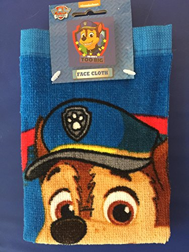 paw-patrol-chase-wash-flannel-face-cloth-bathing-accessories-100-cotton-30-x-30cm