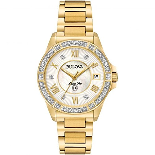 Bulova 98R235 Womans Marine Star Gold Tone