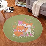 IMON LL TappetiSuperb Luminoso Tappeto per Bambini/Bambini, Weather Animal Large Round Rugs,6,100 * 100cm