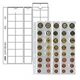 Lindner 2 x MU40 Multi Collect Münzhüllen - Münzblätter - Ergänzungsblätter + Schwarze Zwischenblätter Für je 5 Komplette Euro KMS Kursmünzensätze von 1 , 2 , 5 , 10 , 20 , 50 Cent & 1 , 2 Euromünzen