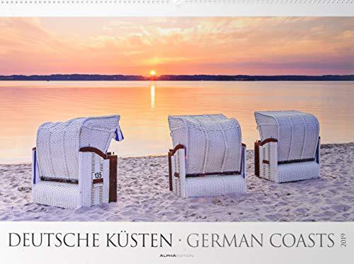 Deutsche Küsten 2019 - Nordsee - Ostsee - Bildkalender XXL (64 x 48) - Landschaftskalender - Naturkalender