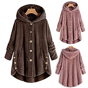 TITAP 2018 Fashion Women Hoodie Long Sleeve Solid Fluffy Fleece Fur Outerwear Winter Warm Sweatshirt Coat S-5XL