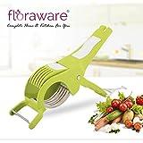 Floraware Veg Cutter Sharp Stainless Steel 5 Blade Vegetable Cutter with Peeler 2 in 1