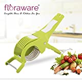 #5: Floraware Veg Cutter Sharp Stainless Steel 5 Blade Vegetable Cutter with Peeler 2 in 1