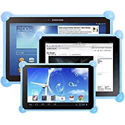 "Color Dreams® Funda tablet silicona universal. Funda silicona tablet pc compatible con cualquier tablet de cualquier tamaño. La funda ideal para tablets usadas por niños o adultos. La misma funda para todos los tamaños de tablets pc como 7"", 8"", 9"", 9.7"", 10.1"", iPad 2/3/4/ , Ipad Air, Ipad Mini, Galaxy Tab/Tab S/Note Pro, Nexus 7, Kindle Fire HD 6/7 Fire HDX 7/8.9 Fire 2. Producto diseñado por Color Dreams®. Compatible con todas las tablets pc del mercado. (Celeste)"