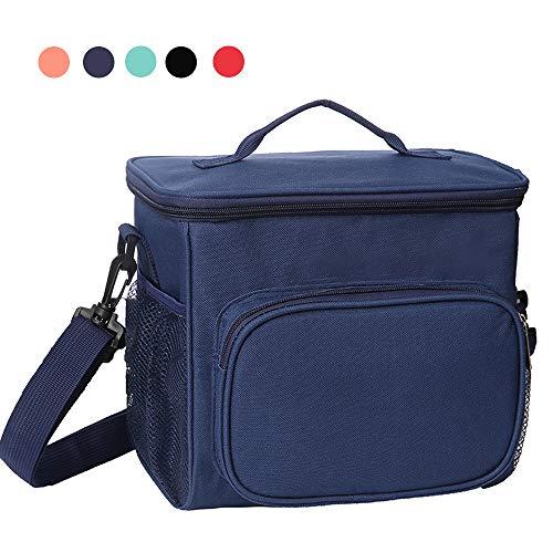 Esonmus borsa termica pranzo, borse frigo piccola cibo alimentazione con grande capacità e maniglia durevole lunch box per campeggio lavoro scuola picnic 10l (blu)