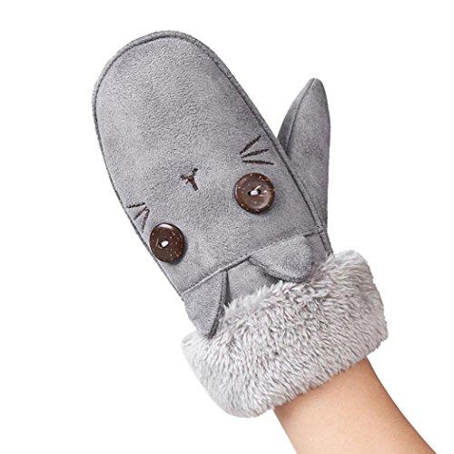 Handschuhe Longra Baby Kinder Mädchen Winterhandschuhe Twist Handschuhe Warm Full Finger Handschuhe Kinder Fäustlinge Schnee Handschuhe (Gray) (Kleinkind Schnee-ausrüstung)