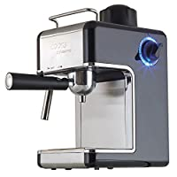 Coffee Machine Espresso Cappuccino Latte Dispenser with Milk Frother, 3.5 Traditional Italian Bar Barista Style, 800 Watts by Cook Professional