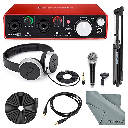 focusrite-scarlett-2i2-usb-audio-interface-zweiter-generation-mit-deluxe-zubehor-bundle-inkl-samson-
