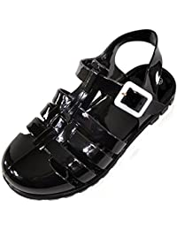 Absolute Footwear Sandali Bambini Nero nero, Nero (Black), 34.5