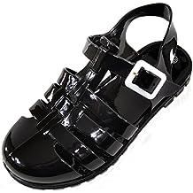 Absolute Footwear Sandali Bambine, Nero (Black/blu), 31 EU Bambino