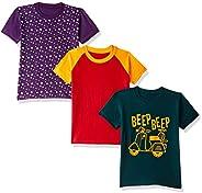 ESNINO Boys' T-Shirt (Pack o