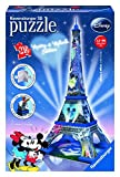 Ravensburger 12570 - Disney Mickey und Minnie Eiffelturm, 216 Teile 3D Puzzle-Bauwerke