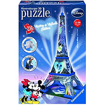 Ravensburger - 12570 8 - Tour Eiffel, Disney Special Edition, Puzzle 3D Building, 216 Pezzi