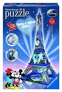 Ravensburger - 12570 - Puzzle 3D Building - 216 Pièces - Tour Eiffel Disney