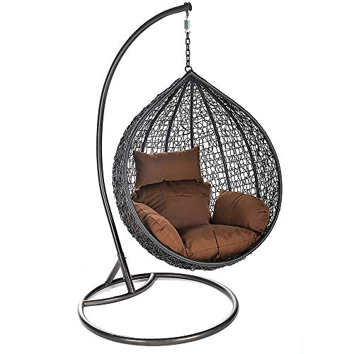 Home Deluxe - Polyrattan Hängesessel - Cielo - inkl. Gestell,...
