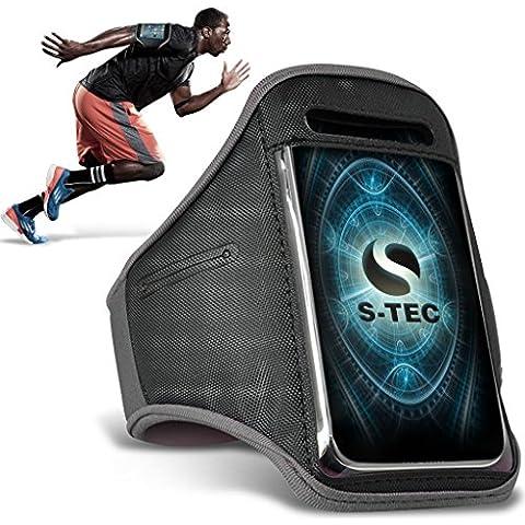 HTC REZOUND Armbands - ( Grey ) Universal Sports Running Action Mobile Phone Armband Holder ( HTC REZOUND fasce da braccio - ( grigio ) Sport universale in esecuzione azione cellulare titolare con fascia da braccio )