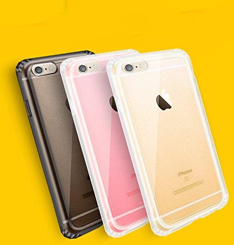 iPhone 3S/iPhone 6Coque souple en gel silicone TPU/absorbant les chocs et anti-rayures Bumper Coque de protection pour Apple iPhone 6 rose doré