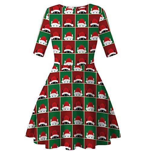 Kostüm Tutu Grün Teen M&m - Omiky Eltern-Kind Langarm Weihnachten Digitaldruck Kleid Prinzessin Kleid Frauen Mode Mom Me Langarm 3D-Druck Weihnachten Xmas Kleid Kleidung