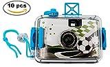 Lote de 10 Cámaras De Fotos Acuáticas Fútbol - Cámaras de Fotos para Niños (No incluye Carrete)