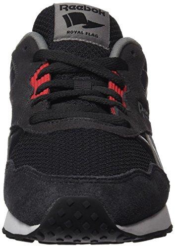 Reebok Royal Tempo, Baskets Basses Homme Multicolore (Coal/flint Grey/glow Red/black/white)