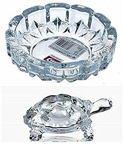 Ankita Gemstones Crystal Tortoise in Plate- Fang Shui Vastu Set Best Gift for Career