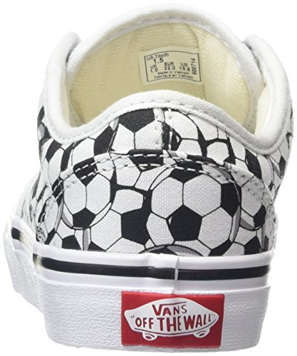 Vans Atwood, Baskets Basses Mixte Enfant Blanc (Canvas Soccer Balls)