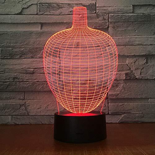 3D Nachtlicht 7 Farbe Led Beleuchtung Spielzeug Touch Kinder Kinder Geschenk Schlafzimmer Hause Atmosphäre Licht Schwarz Basis M-038