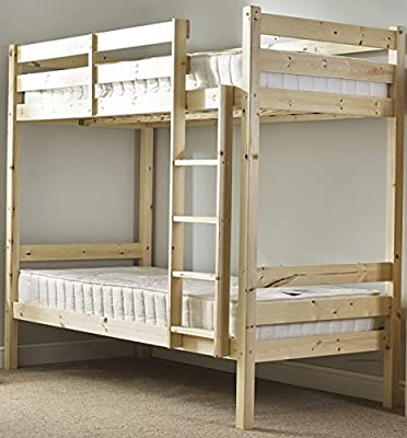 Heavy Duty Bunk Bed - 3ft single solid pine bunk bed - Can be used by adults - VERY STRONG produced by Strictlybedsandbunks - quick delivery from UK.