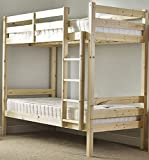 double bunkbed 4ft 6 twin bunk bed very strong bunk heavy duty use kitchen. Black Bedroom Furniture Sets. Home Design Ideas