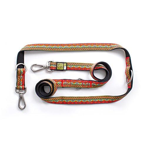 Max & Molly Multi Functional Leash Hundeleine in verschiedenen Größen und Designs (M, Ethnic Vibes) - 34 Vibe