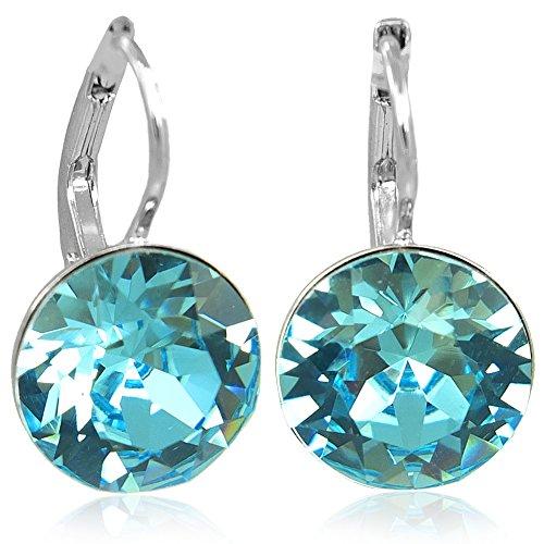 Ohrringe mit Kristallen von Swarovski® Blau Silber NOBEL SCHMUCK